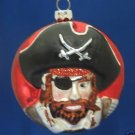 CARIBBEAN PIRATE BLOWN GLASS ORNAMENT AHOY MATIE NEW