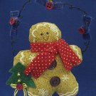 GINGERBREAD COOKIE CHRISTMAS ORNAMENT HAND CRAFTED CUTE