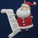 HALLMARK SANTA SO MUCH TO DO CHRISTMAS ORNAMENT MIB