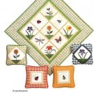GARDEN SAMPLER QUILT PILLOWS QUILTING PATTERN NEW