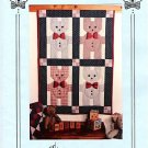 BOWTIE BUDDIES TEDDY BEARS WALL QUILT QUILTING PATTERN
