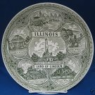VINTAGE ILLINOIS LAND OF LINCOLN STATE SOUVENIR PLATE