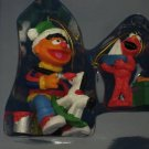 SESAME STREET ERNIE ELMO CHRISTMAS ORNAMENT SET 2 NIB