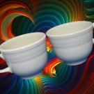 FIESTA WHITE DINNERWARE 2 CUPS HOMER LAUGHLIN NEW MINT