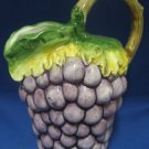 Grapes Figural Pitcher Made in Italy Italian Pottery