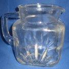 Hazel Atlas Star Glass Pitcher Vintage Mid Century