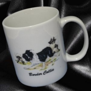 BORDER COLLIE DOG SHEEP HERDING MUG CUP ROSALINDA CUTE