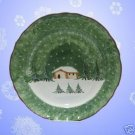 FEDERATED DEPT STORE LOG CABIN PLATTER CHARGER ITALY NR