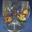 DISNEY POOH SANTA TIGGER REINDEER GLASS CHRISTMAS MUG