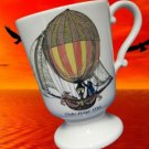 GLOBE DIRIGE HOT AIR BALLOON PEDESTAL MUG CUP PORTUGAL