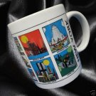 NEW YORK CITY SOUVENIR MUG CUP TIMES SQUARE WORLD TRADE