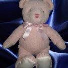PINK TEXTURED PLUSH TEDDY BEAR BABY GIRL TOY SHORTCAKE