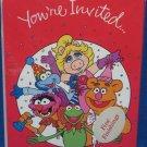Henson MUPPETS Party Invitations Kermit Fozzy Gonzo NIP