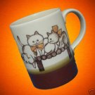 KITTENS CATS PLAYING ON FENCE CERAMIC MUG CUP CUTE MINT