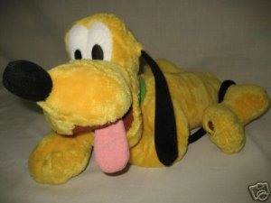 DISNEY STORE PLUTO FLOPPY DOG PLUSH COLLECTIBLE CUTE NR