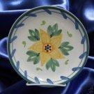 CALECA LIRICA YELLOW FLOWER 1 SALAD PLATE ITALY ITALIAN