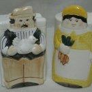 SALT PEPPER BOXES PEOPLE COUPLE FIGURAL SHAKERS VINTAGE