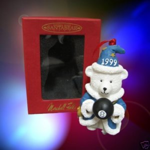 Marshall Fields Santabear Merlin 1999 Xmas Ornament MIB