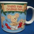 FRIENDS MAKE CHRISTMAS MERRY MICE DECORATING MUG CUP NR