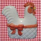 CHICKEN HEN IN BASKET NAPKIN HOLDER NORCREST K450 JAPAN