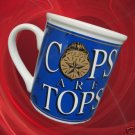 COPS ARE TOPS POLICE OFFICER BADGE COFFEE MUG CUP NEW