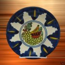 MEXICAN ART POTTERY AMORA FRUIT PLATE B ARTIST SIGNED