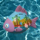 MEXICAN ART POTTERY FISH FIGURAL BANK HAND PAINTED WOW