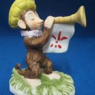LEFTON MONKEY ROYAL TRUMPET PLAYER FIGURINE BISQUE MWT