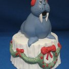 CHRISTMAS WALRUS BAKING SODA POTPOURRI HOLDER MIB CUTE