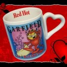 GARFIELD CAT LAST RED HOT LOVERS MUG CUP HEART HANDLE