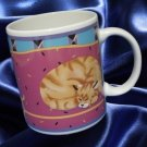 OTAGIRI ORANGE TABBY CAT MUG CUP ANGELA ACKERMAN MINT