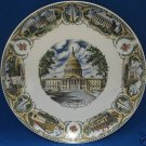 VINTAGE WASHINGTON DC CAPITOL SOUVENIR COLLECTOR PLATE
