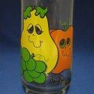 ANTHROPOMORPHIC FRUITS 1 TUMBLER GLASS NANCY LYNN RETRO