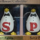WAITER PENGUINS SALT PEPPER SHAKERS GRANT HOWARD NIB