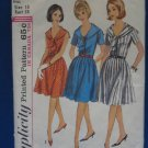 VINTAGE SIMPLICITY DRESS PATTERN SZ 18 WOMEN 1964 RARE