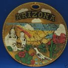 VINTAGE ARIZONA STATE SOUVENIR SCULPTED COLLECTOR PLATE