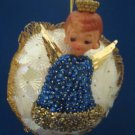 VINTAGE ANGEL BEADED SEQUINS CHRISTMAS ORNAMENT UNIQUE