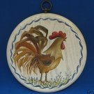 HAND PAINTED COUNTRY ROOSTER WOOD PLAQUE ARTIST SIGNED