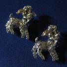 VINTAGE SILVER LAMBS SET 2 LAPEL PINS BROOCHES 1960s