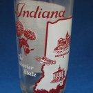 VINTAGE INDIANA STATE SONG TUMBLER GLASS MID CENTURY