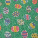COLORFUL EASTER EGG PRINT CRAFT QUILT FABRIC NEW