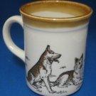 GERMAN SHEPHERD DOGS MUG CUP BILTONS MADE ENGLAND MINT