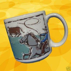 COWBOY HORSE WESTERN CATTLE WRANGLER COFFEE MUG CUP NEW