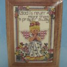 COUNTED CROSS STITCH KIT PRAYER AWAY ANGEL REFLCTIONS