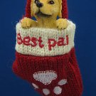 YELLOW LAB PUPPY DOG BEST PAL MITTEN CHRISTMAS ORNAMENT