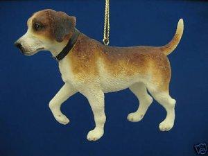 ENGLISH FOXHOUND PUPPY DOG CHRISTMAS ORNAMENT NEW CUTE