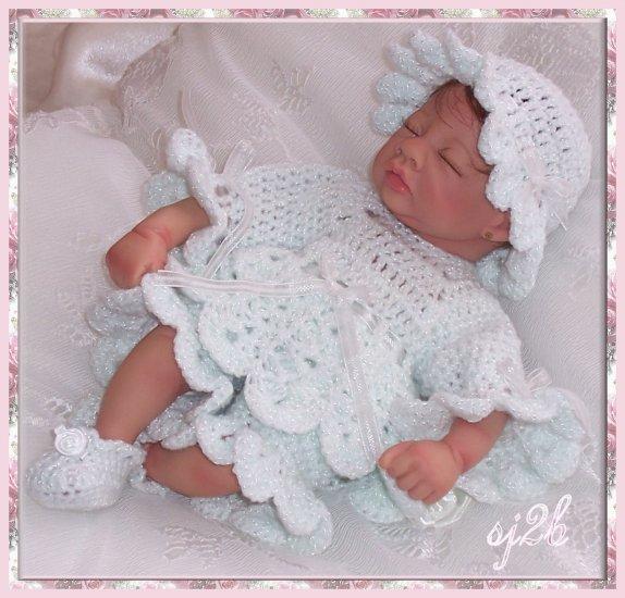 Little Pierrot Custom Crochet Set for Collector Doll and Reborn SJ2B