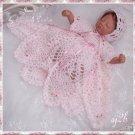 Christening Custom Crochet Set for Collector Doll and Reborn SJ2B