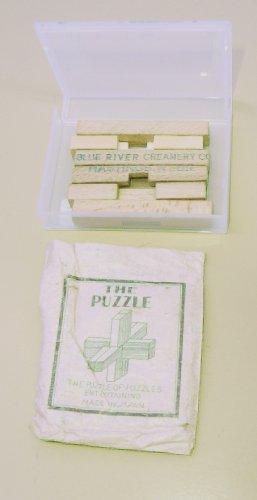Blue River Creamery Hastings, Nebr - Wooden Cross Puzzle