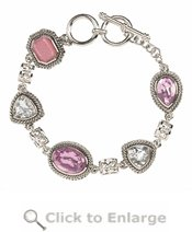 Pink Teardrop Bracelet